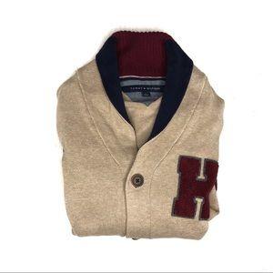 Tommy Hilfiger Letterman Appliqué Cardigan Sweater